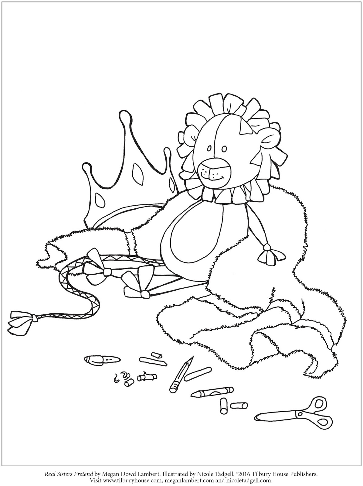 Nicole Tadgell Illustration: Coloring pages for Real Sisters Pretend