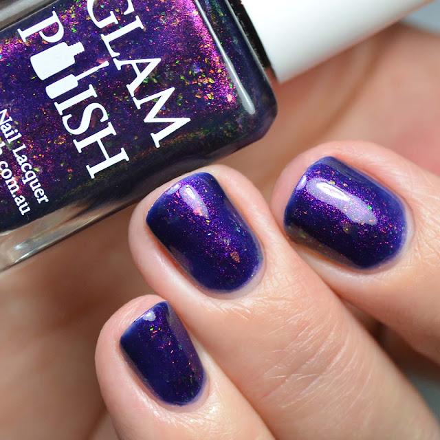 purple color shifting nail polish swatch