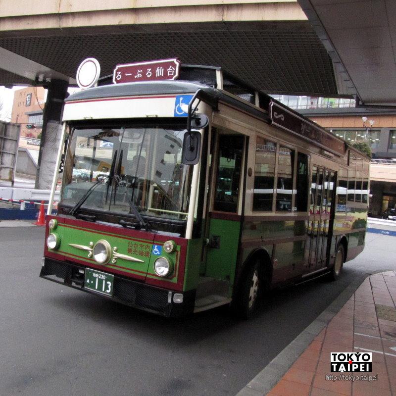 【LOOPLE仙台】老派周遊觀光巴士 讓遊客輕鬆遊遍仙台各景點