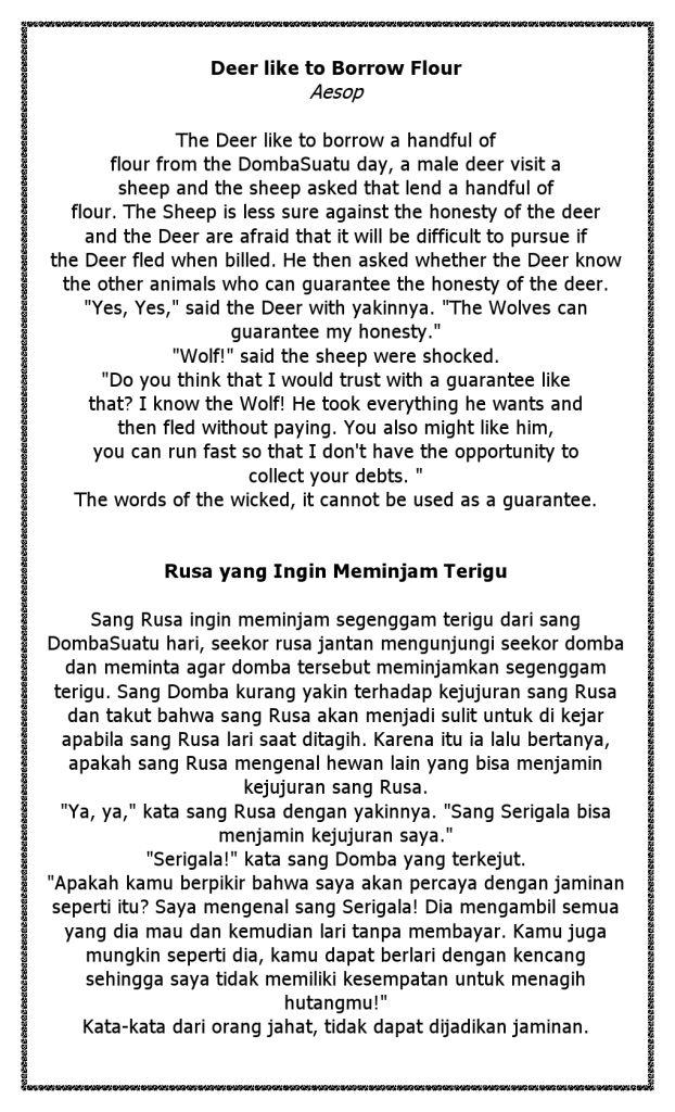 Cerita Rusa dan Domba Inggris Indonesia