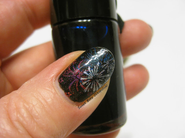 4th of July holo fireworks stamping