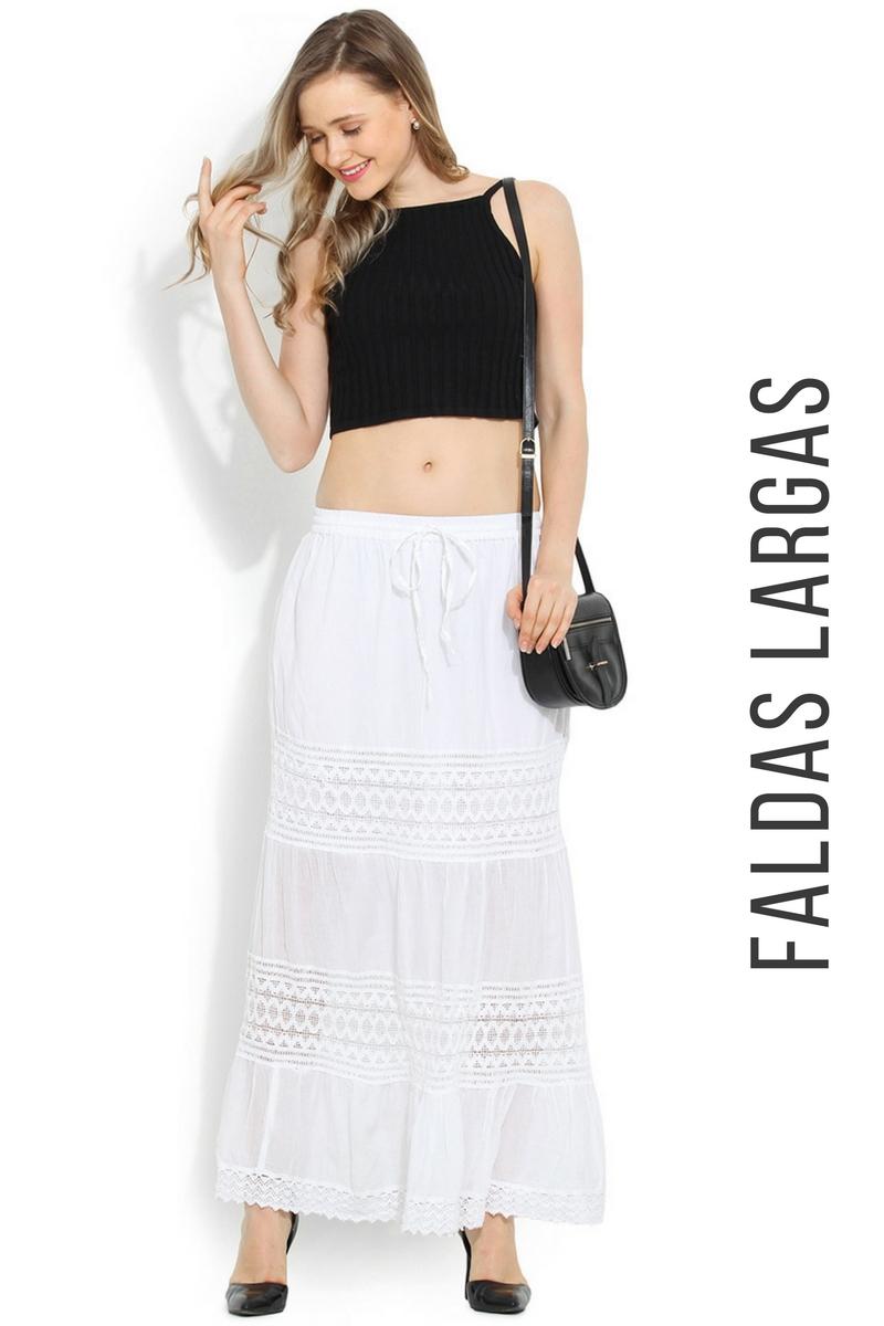 d19badc9a Modelos De Faldas Blancas Largas   Wig Elegance