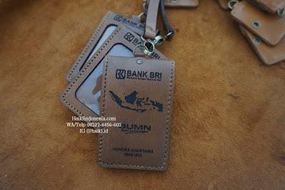 Jual Souvenir Tempat Id Card Kulit Pekanbaru bank BRI