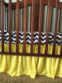 Yellow Ruffle Crib Skirt