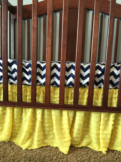 Yellow Ruffle Crib Skirt