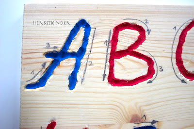 DIY Montessori Alphabet Tracing Boards