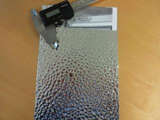 Foil aluminio brillante luminarias
