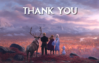 Frozen 2 printable thank you cards