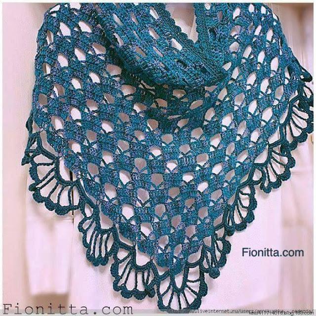 Patrón #1095: Chal a Crochet