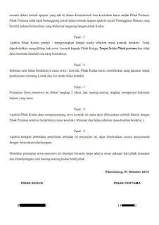 Surat Perjanjian Sewa Kios atau Ruko lengkap