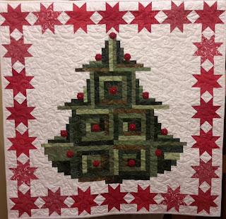 Wandbehang Quilt Weihnachtsbaum