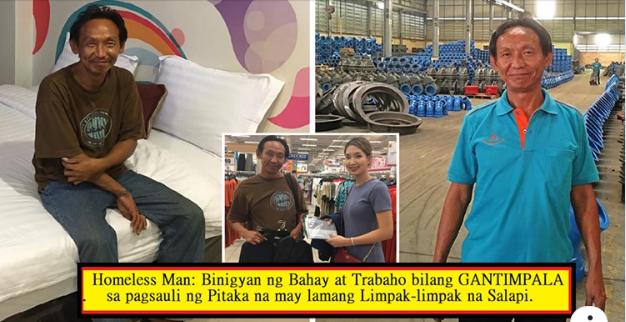 Homeless Man: Binigyan ng Bahay at Trabaho bilang GANTIMPALA sa Pagsauli ng Pitaka na may Lamang Limpak-limpak na Salapi.