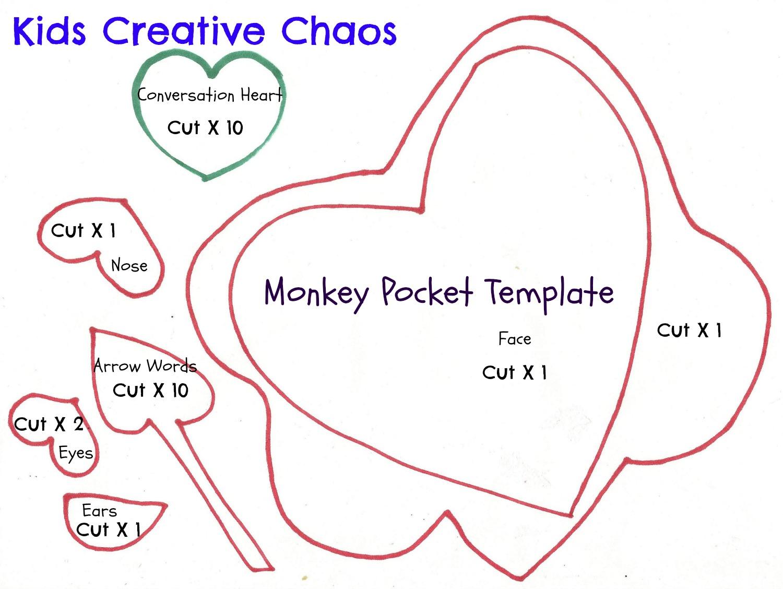 Monkey Valentine Conversation Hearts Sight Word Game