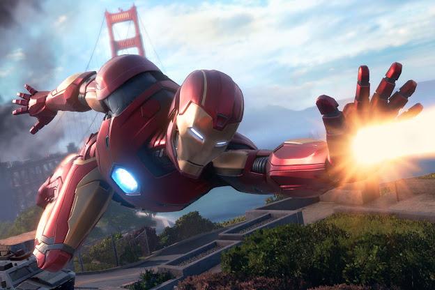 Marvel's Avengers flying in San-Francisco