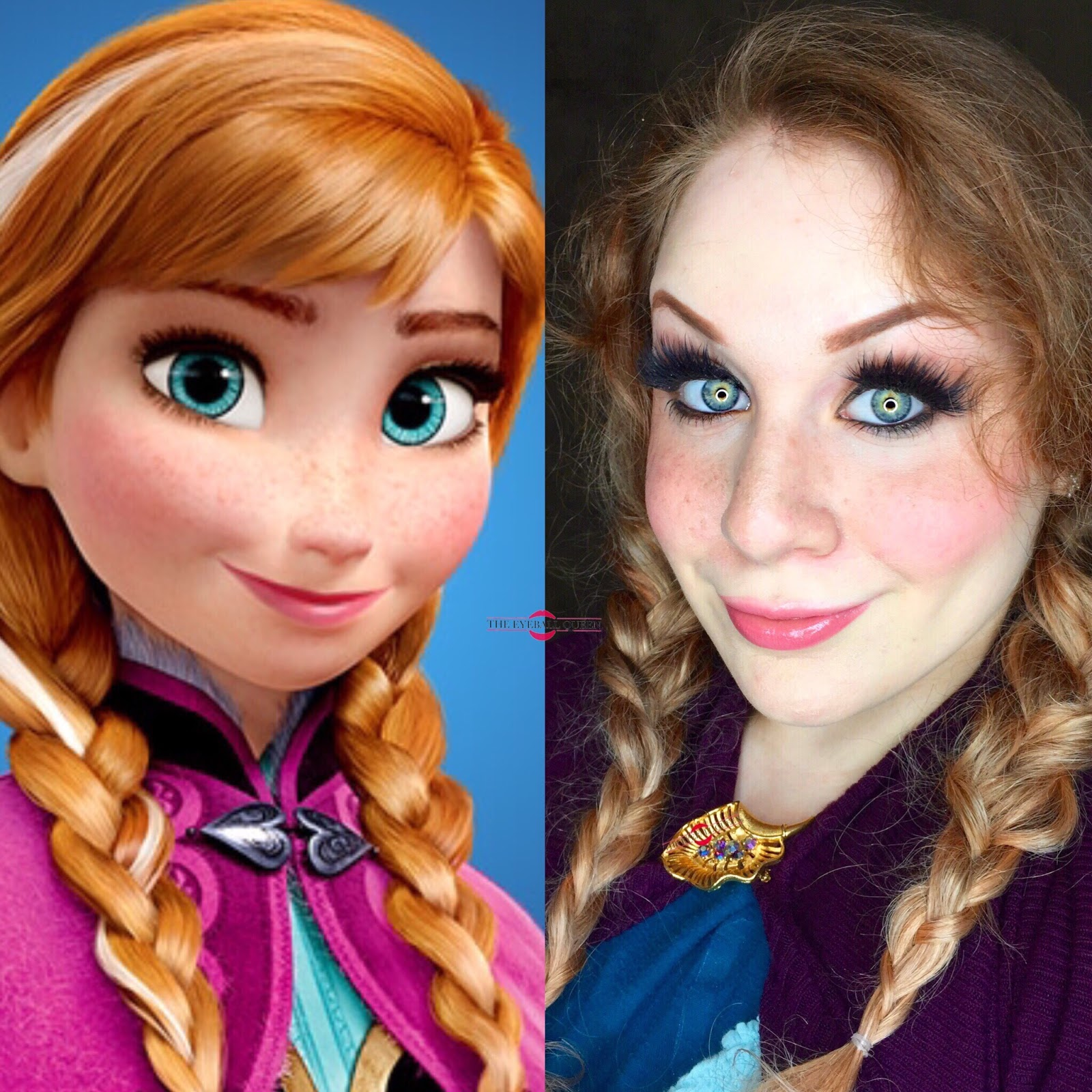 Frozen princess anna halloween makeup tutorial cosplay inspired direct cosplay baditri Image collections