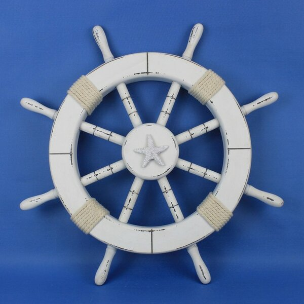 Elginpark 18 Decorative Ship Wheel with Starfish Wall Decor