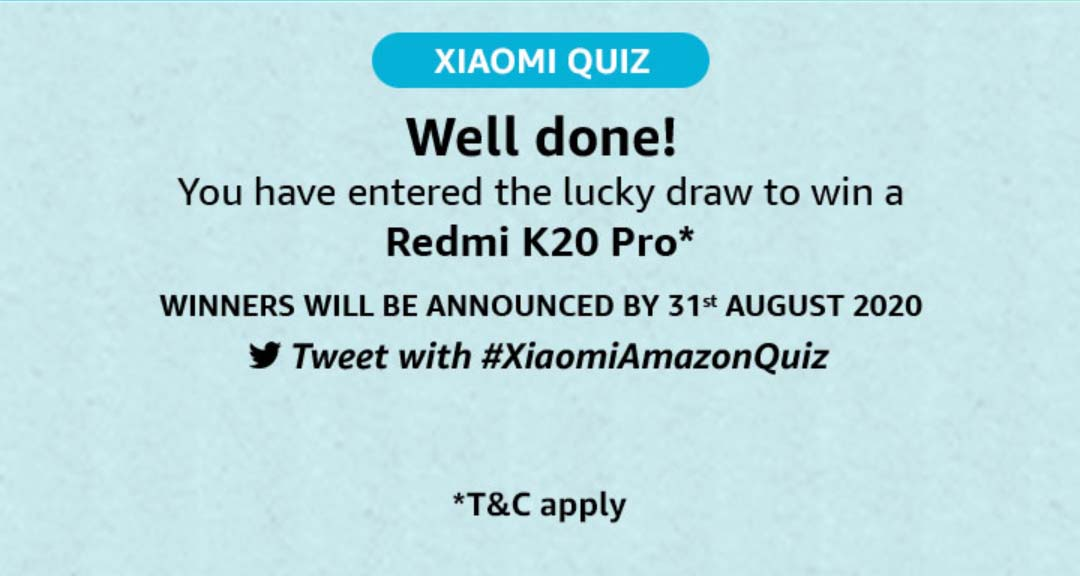 Amazon Xiaomi Quiz Answers