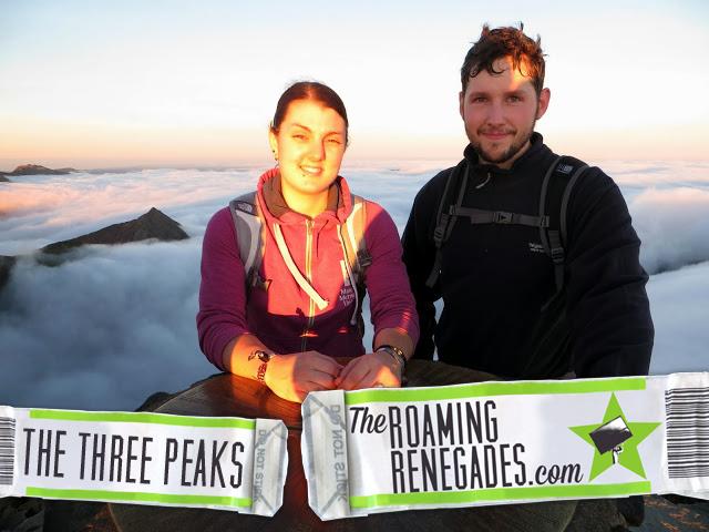 3 peaks challenge, top of snowdon, sunset!