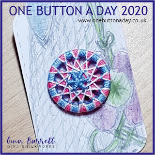 Day 267 : Femme - One Button a Day 2020 by Gina Barrett