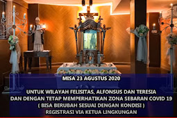 Misa Minggu 23 Agustus 2020