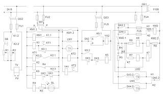 Электрическая схема котельной автоматики на постоянном токе