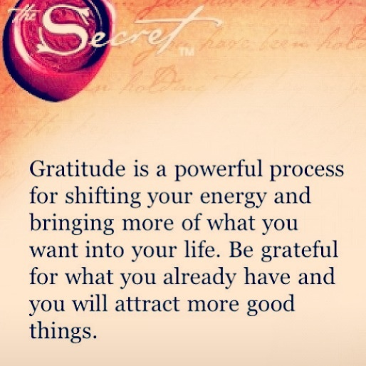 The power of gratitude.