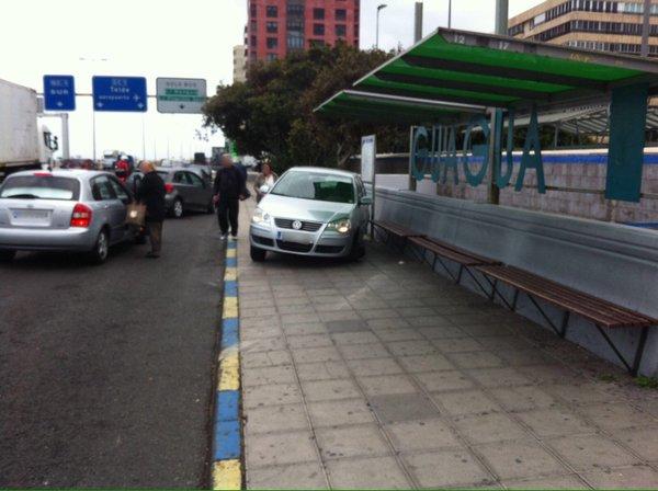 Cinco heridos accidente Avenida Marítima,  Parque San Telmo Las Palmas G. C.