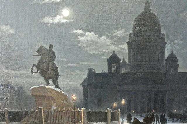 Musée russe Le monument à Pierre le grand sur la place du Sénat à Saint Pétersbourg le fameux cavalier de bronze statue de Falconet.