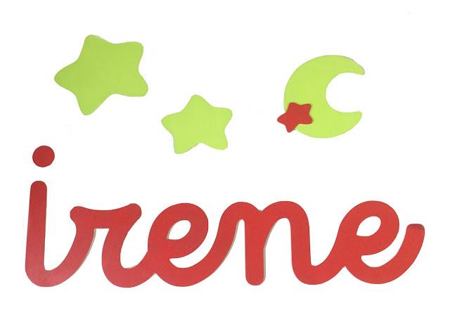 decoración infantil con letras para la pared