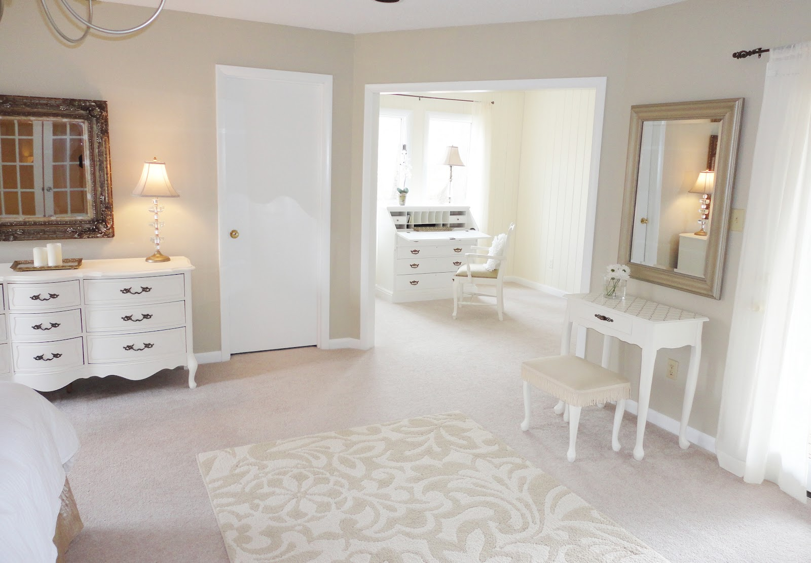 attic master bedroom decorating ideas - LiveLoveDIY How To Paint Furniture Stenciling
