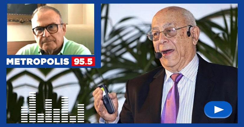 Ο καθηγητής Αντώνης Φώσκολος στην εκπομπή του Κ. Παπαζαφειρίου στο Metropolis Radio