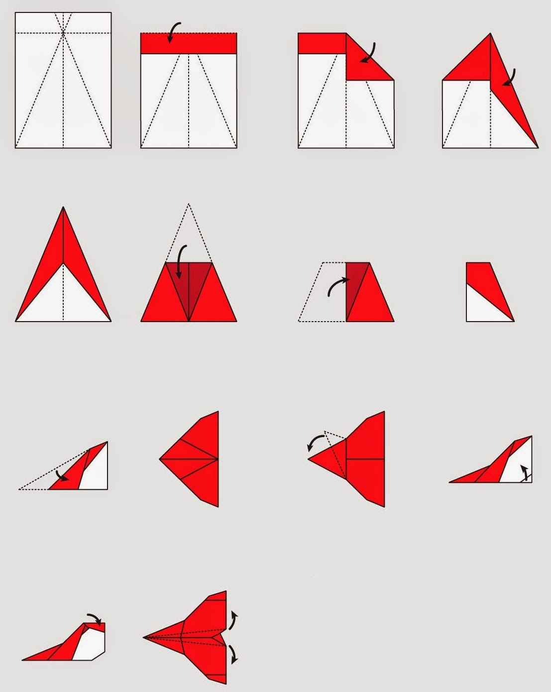 how to make origami planes step by step ~ origami ... - photo#22