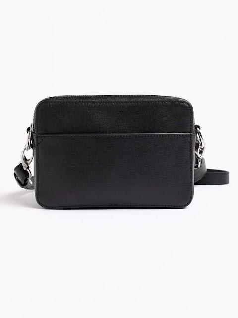 saint and Sofia saffiano leather handbag