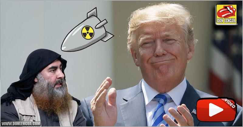 El fundador de ISIS murió huyendo como un cobarde - Donald Trump lo celebra en grande!