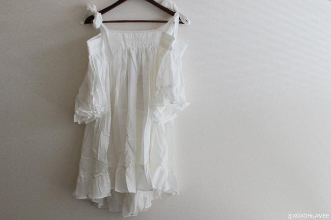 日本人ファッションブロガー,MizuhoK,New In フリルオフショルダーワンピース,ボウタイチューブトップ from chicwish シックウィッシュ