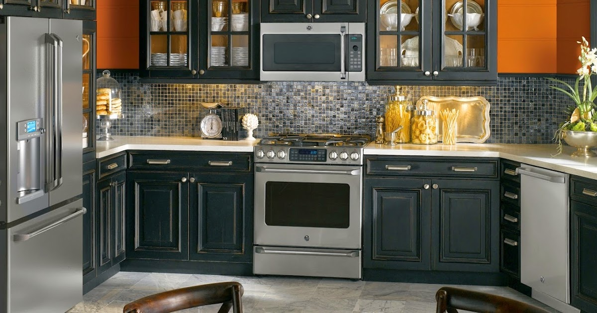 black appliances kitchen ideas contemporary kitchen ideas with black appliances 16405