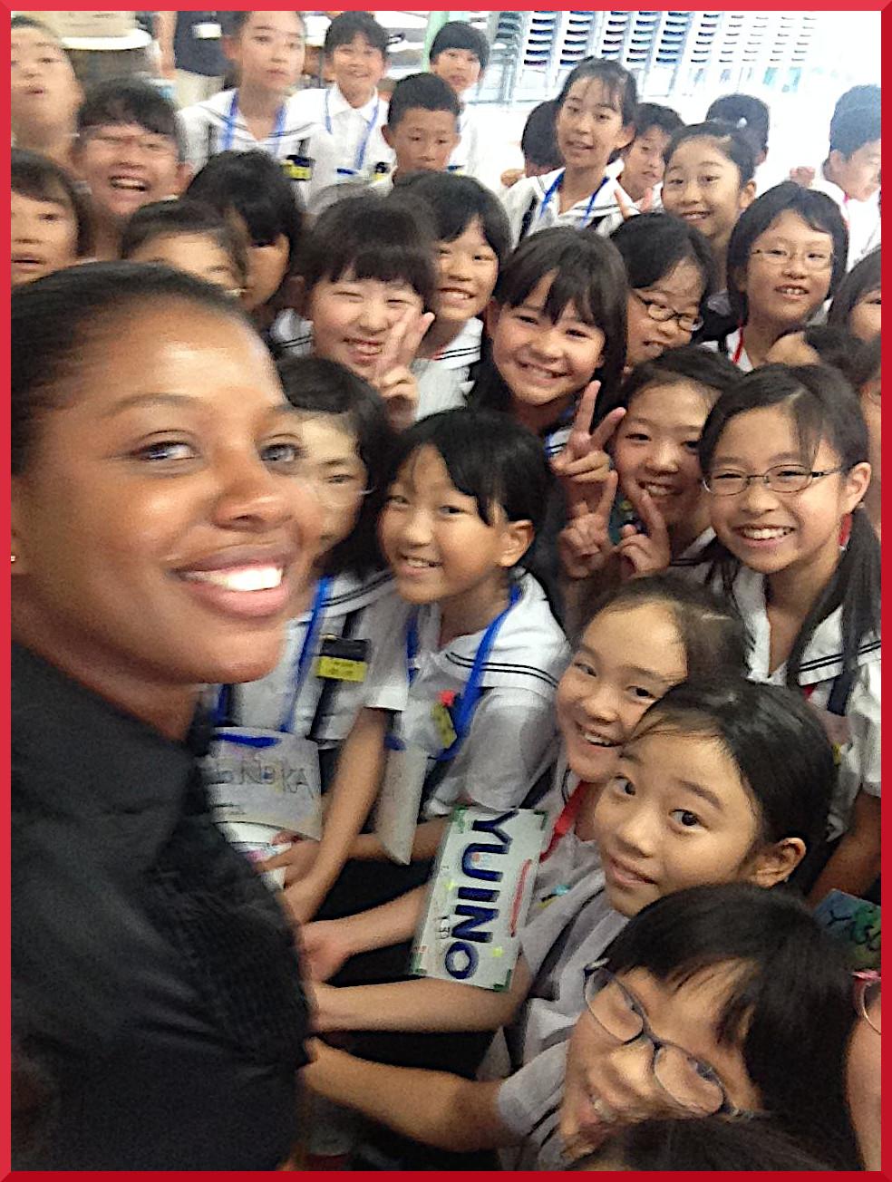 Tereka Brown Japanese students