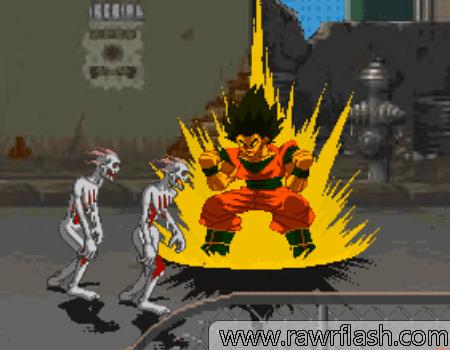 Jogos de luta, ação, aventura, briga de rua: Lute com Mario, Goku, Freeza, personagens de anime/jogos contra zumbis e cachorros, mestres etc.