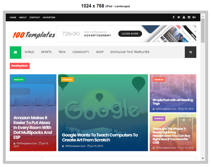 NewsPro Blogger Template Free Download