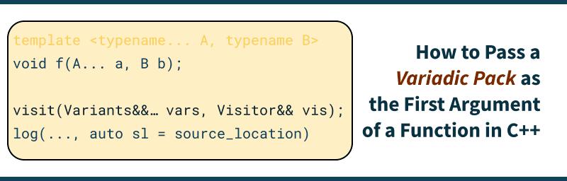 Variadic Pack, C++