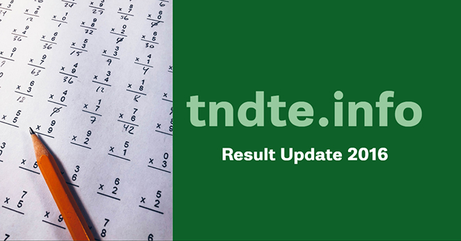 TNDTE Diploma Results April 2016