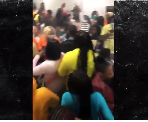 A large number of people were reportedly filmed at a crowded house party in the City.