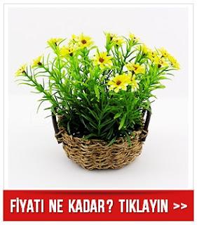 Çiçek Sepeti Dekoratif Masa Süsü