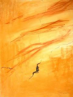 19 - Le mur blessé 2 - © Edith Smets - 56/76 - pastel