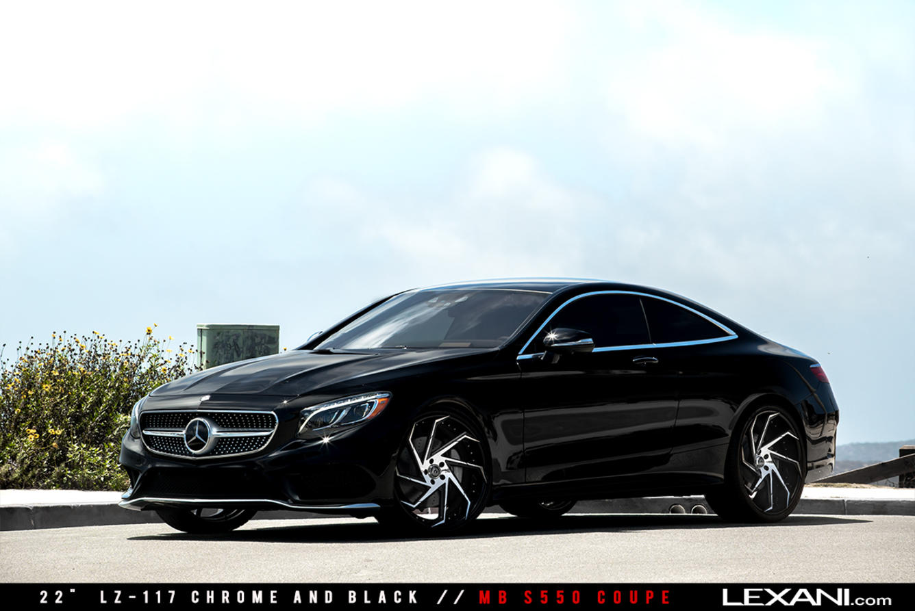 Mercedes benz s550 coupe on 22 39 39 lexani wheels benztuning for Mercedes benz s550 rims