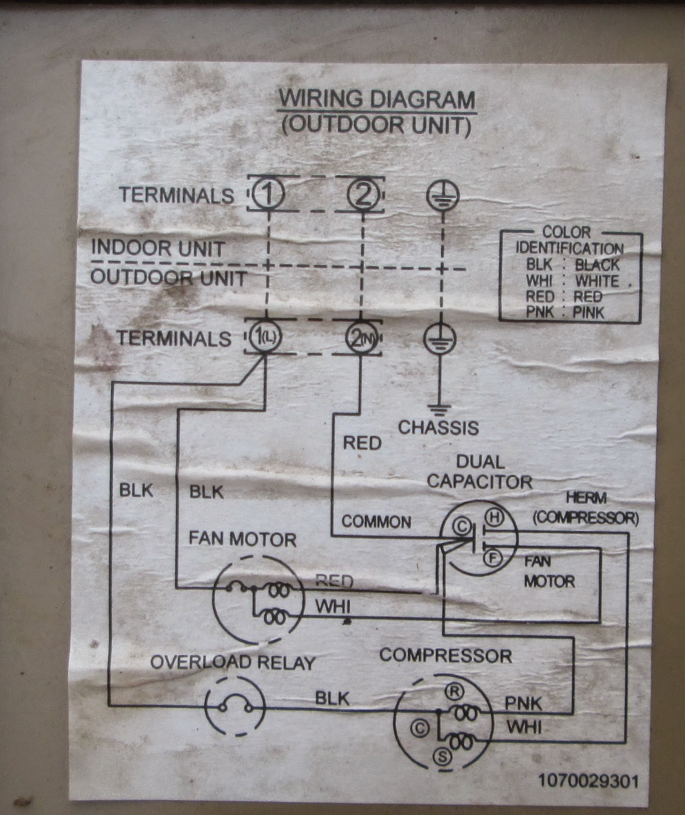 wiring diagram ac split daikin 2 pk single phase capacitor start run motor service kota serang baru kelistrikan