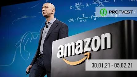 Важные новости из мира финансов и экономики за 30.01.21 - 05.02.21. Джефф Безос объявил об уходе с поста гендиректора Amazon