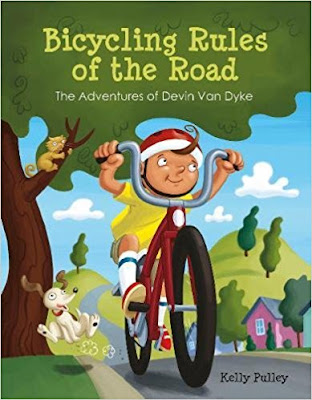 Humorous and fun, Bicycling Rules of the Road is a great book for introducing basic bicycle rules to young kids. #kidslit #picturebook #bicycling #safety