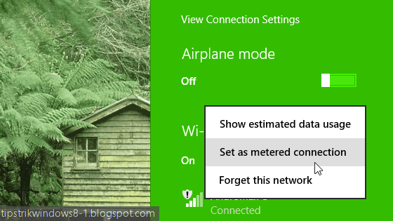 metered connection di windows 8.1