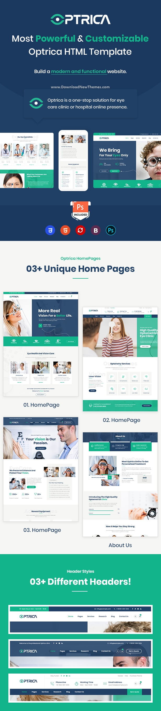 Eyecare & Optometrist HTML5 Template